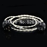 Бесплатная доставка Crystal Cable чистого серебра кабель питания с нами/EU версии соединительные 2 м/шт