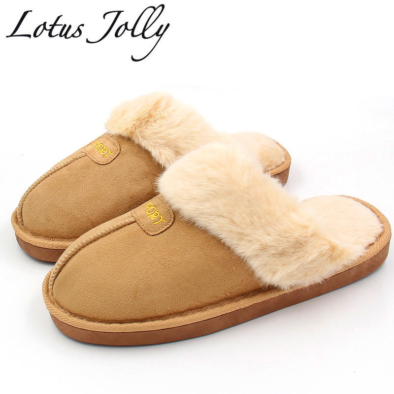 Winter Women Slippers Plush Home Shoes Woman Couples Fur Slippers For Grown Ups Unisex Warm Home Indoor Floor Shoes flat fur women slippers 2017 fashion leisure open toe women indoor slippers fur high quality soft plush lady furry slippers