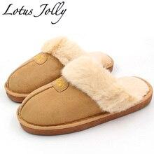 Zimní domácí pantofle s kožešinou ve více barvách