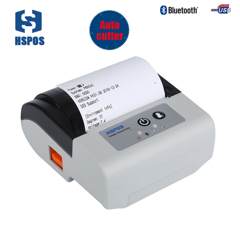 Portable Mobile thermal Printer with usb +bluetooth port 3 inch android from China ios auto cutter receipt billing printing