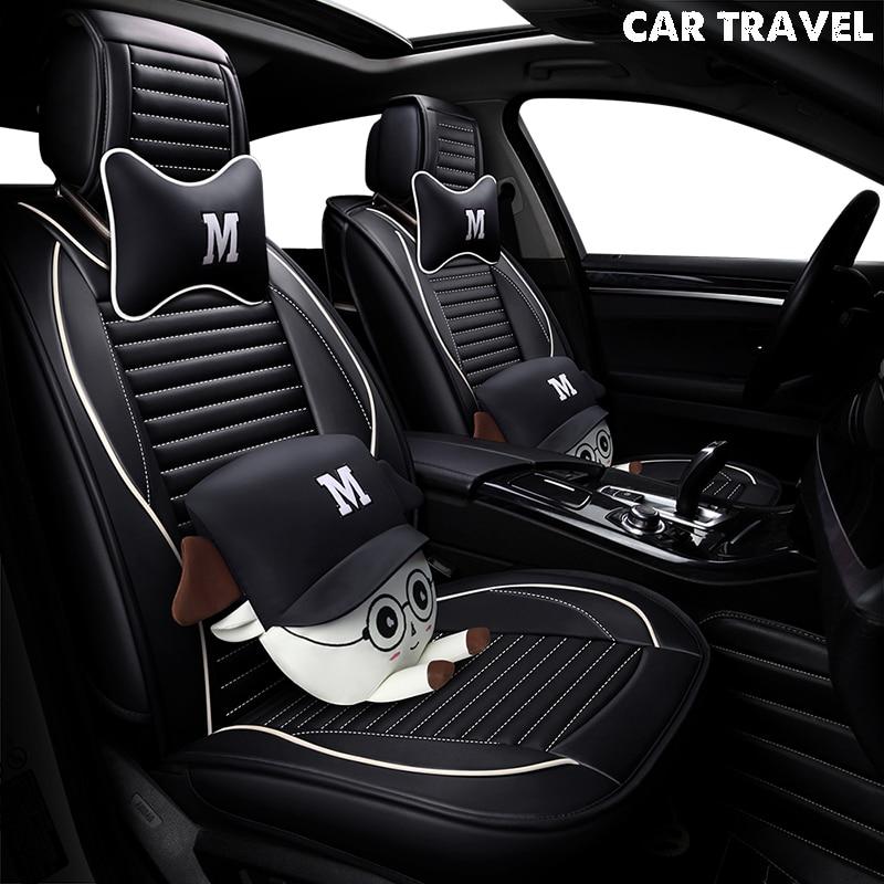 Pu siège de voiture En Cuir de couverture Pour hyundai ix25 ix35 opel zafira b chevrolet spark vw golf 5 6 7 auto accessoires de voiture-style