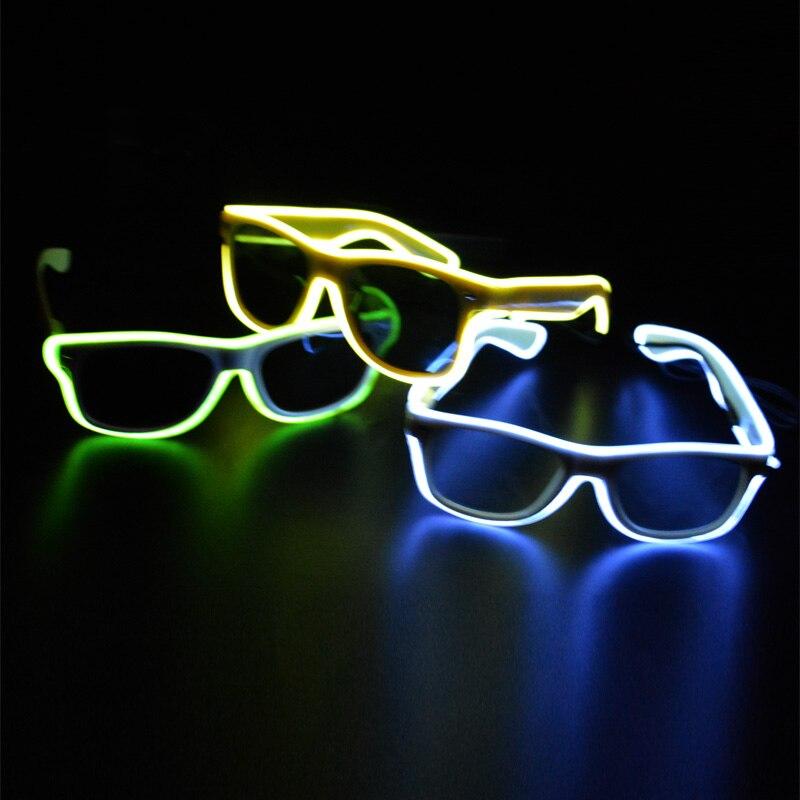 1 stks nieuwe witte el koud licht led zonnebril ray een ...
