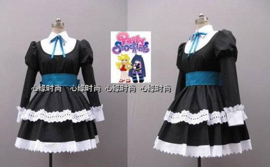 415fbf8e9 Japanese Anime Panty   Stocking with Garterbelt cosplay Stocking Anarchy  cos Halloween party Gothic Lolita girls Maid costume