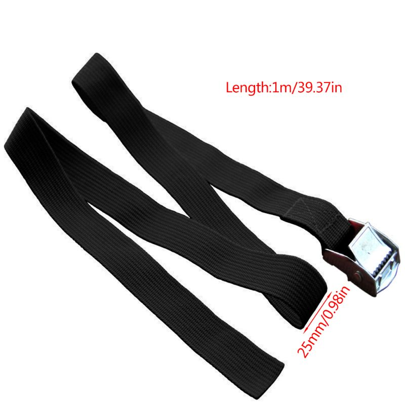 Image 4 - 1M Buckle Tie Down Belt Cargo Straps For Car Motorcycle Bike With Metal Buckle Tow Rope Strong Ratchet Belt qiang-in Tensioning Belts from Automobiles & Motorcycles
