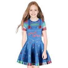 2019 Baby Girl Dress Cosplay Good Guy Cartoon Pricess Print Summer Fashion Joker Clothes Children Vestidos Kids Dresses