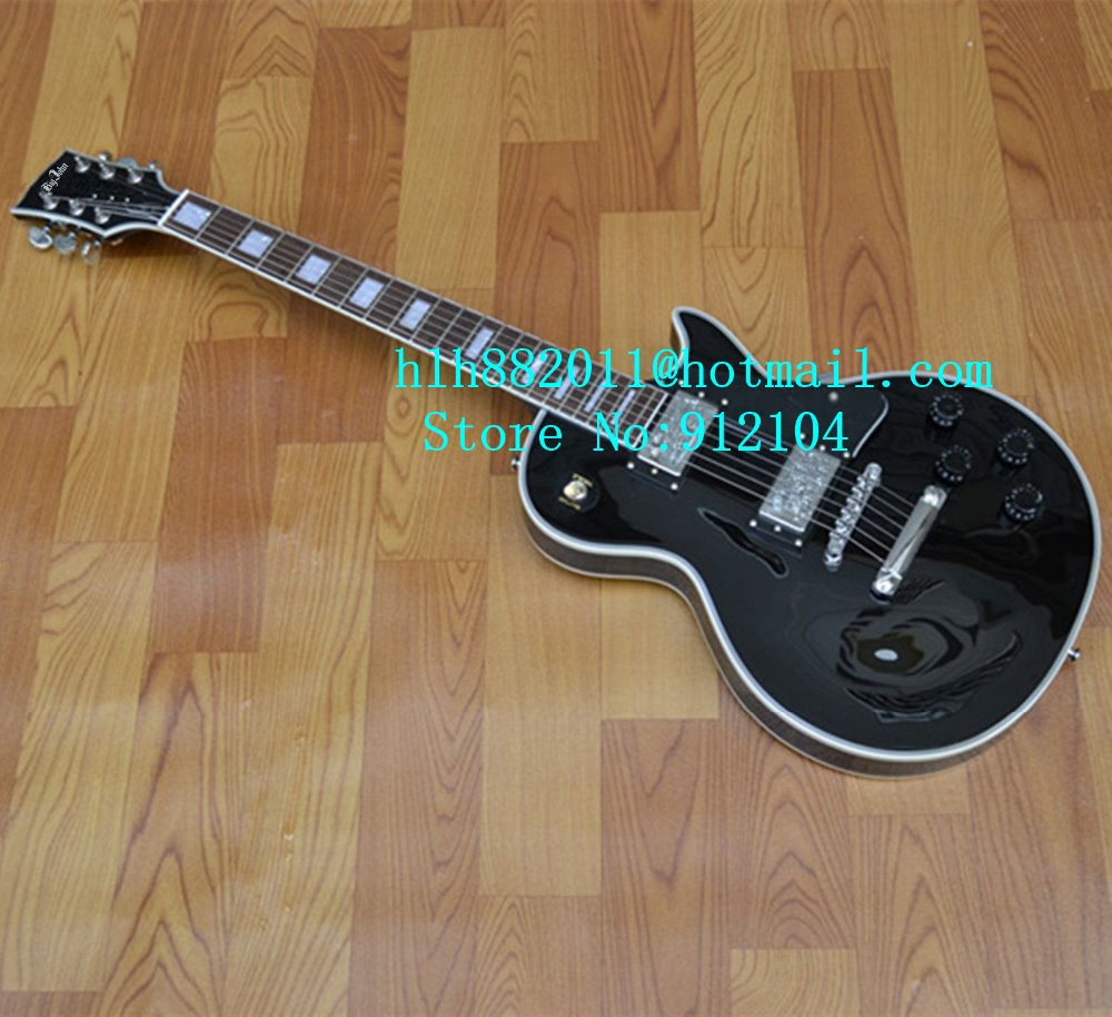 free shipping music instrument new LP electric guitar with chrome hardware and rosewood fingerboard in black  +foam box F-1072 free shipping new gbson 1956 lp standard model electric guitar ebony fingerboard with p90s pick ups in black 111014