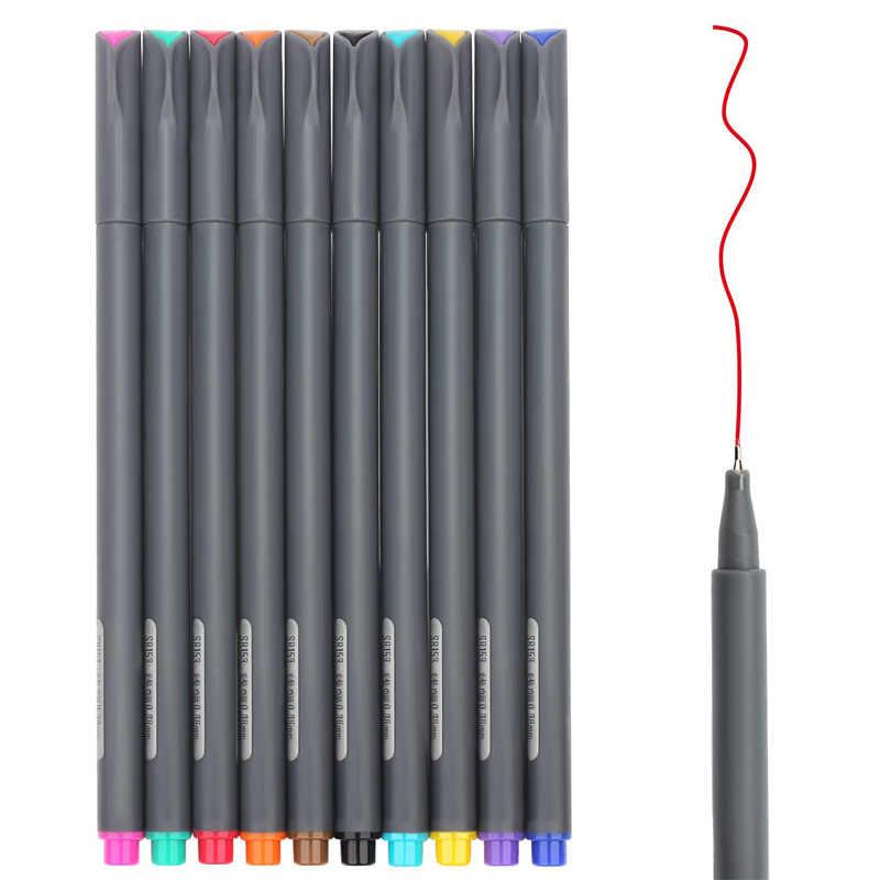 Màu sắc 10 Viên Đạn Tạp Chí Bút Quy Hoạch 0.38mm Mịn Điểm Fabricolor Dấu Fineliner Vẽ Bút Tô màu Nghệ Thuật Mỹ Bút
