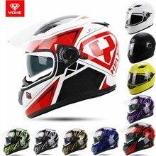 2015 Новый Стиль двойной линзы YOHE Анфас Мотокросса mototrcycle шлем YH-970 ABS Мотоцикл шлемы 14 цветов размер M, L, XL, XXL