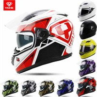 2015 New Style Double Lenses YOHE Full Face Motorcross Mototrcycle Helmet YH 970 ABS Motorbike Helmets