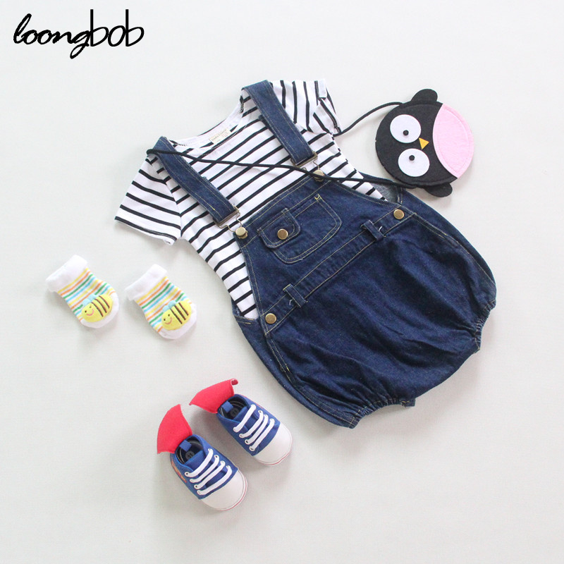 3-24 Months Kids Baby Girl Overall Denim Jeans Summer Clothes Toddler Newborn Suspender Shorts Baby Jumpsuit New Born Romper 2017 denim romper newborn baby boy girl summer sleeveless pocket clothes toddler kids jumpsuit sunsuit children clothing outfits