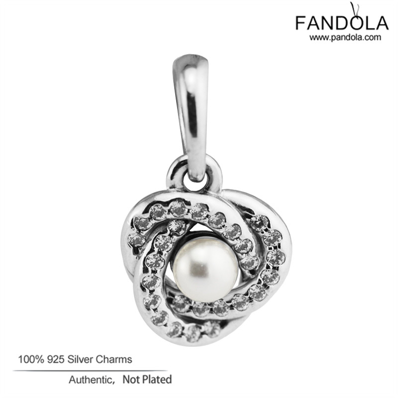 Großhandel 925 Sterling Silber Weiß Kristall Pearl & Clear CZ - Edlen Schmuck - Foto 1