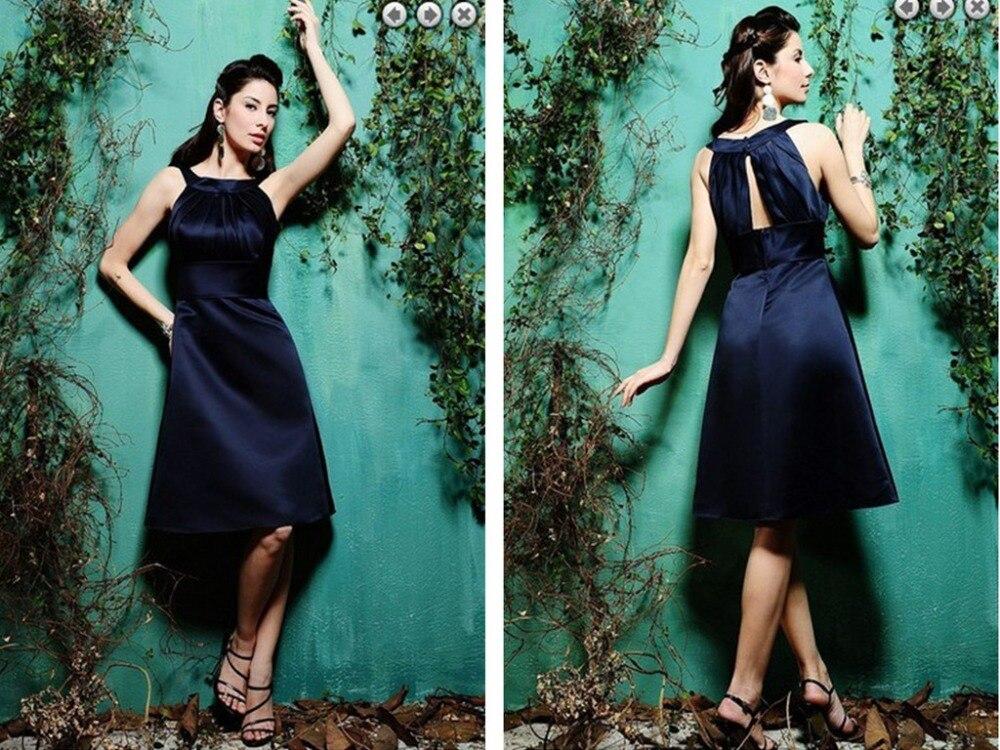 vestido de festa de casamento 2015 a-line New Fashion Plus Size Brides Knee-Length short   Bridesmaid     Dresses   party gowns