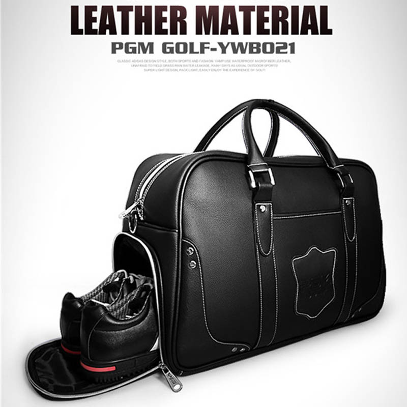 2019 New Large Capacity Leather Golf Bag Golf Clothing Bag Waterproof Golf Shoes Bags Double Layer Sports Handbags YWB0212019 New Large Capacity Leather Golf Bag Golf Clothing Bag Waterproof Golf Shoes Bags Double Layer Sports Handbags YWB021