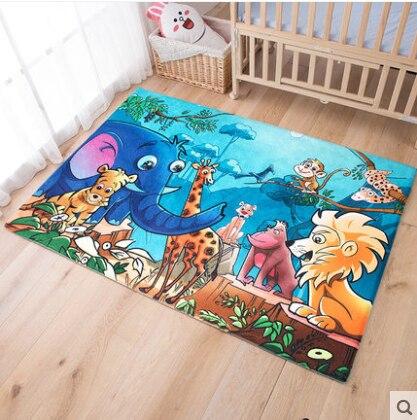 Kingart Cartoon Big Yoga Carpet Children Floor Mat Kid Room Thick Fur tapete Baby Bedroom Rug And Carpets For Living Room Carpet