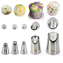 5 PCS Icing Piping Nozzles Stainless Steel Cake Decorating Tips Set Baking Tools For Cream  HSH01