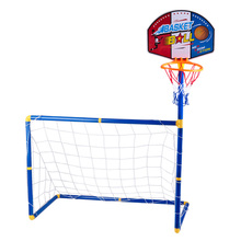 2 In 1 Portable Children Sports Equipment Football Goal Basketball Stands Toys for Kids Outdoor Toy NEW