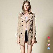 Coat For Women Windbreaker European Plus Size Long Autumn Style Fashion Casual British Style Women's Streetwear