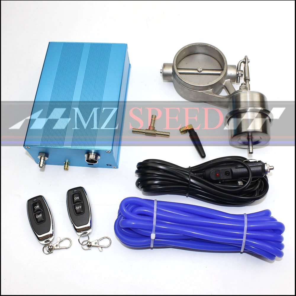 Exhaust Control Valve Set Cutout 51mm 63mm 376mm Pipe Close Style With Vacuum Actuator with Wireless Remote Controller Set