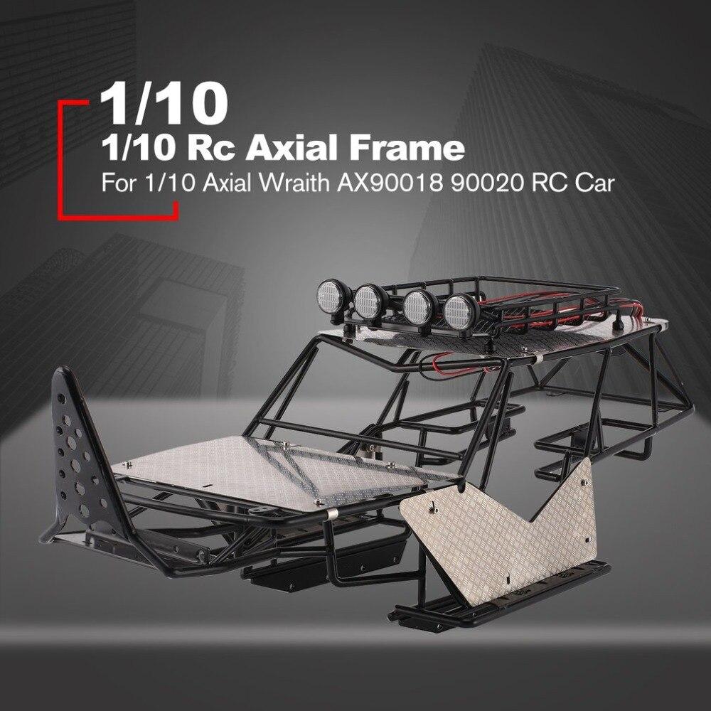 Châssis de châssis de Cage à rouleaux en métal carrosserie de voiture RC avec galerie de toit et feuilles de métal accessoires de remballage pour 1/10 Rc Axial Wraith