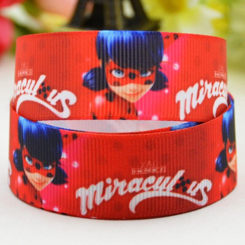 7/8 »(22 мм) lady Bug с героями мультфильмов Grosgrain ленты вечерние украшения, атласные ленты x-01812 OEM 10 метров