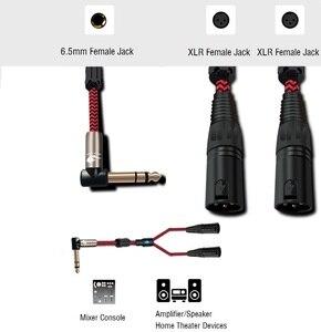 Image 2 - Стерео аудио кабель со штекером 1/4 дюйма и разъемом 6,35 мм на 2 штекера XLR для микрофона, миксера, консолей, усилителя, Y разветвитель, адаптер 1 м, 2 м, 3 м, 5 м