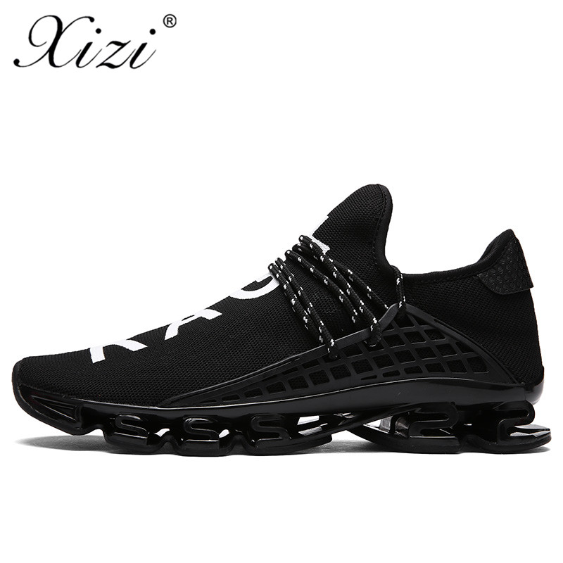 XIZI Mens Sport Running Shoes 2018 Lace-up Exercise Couple Sneakers Breathable Mesh Letter Shoes Size 36-44 Sneakers for Men