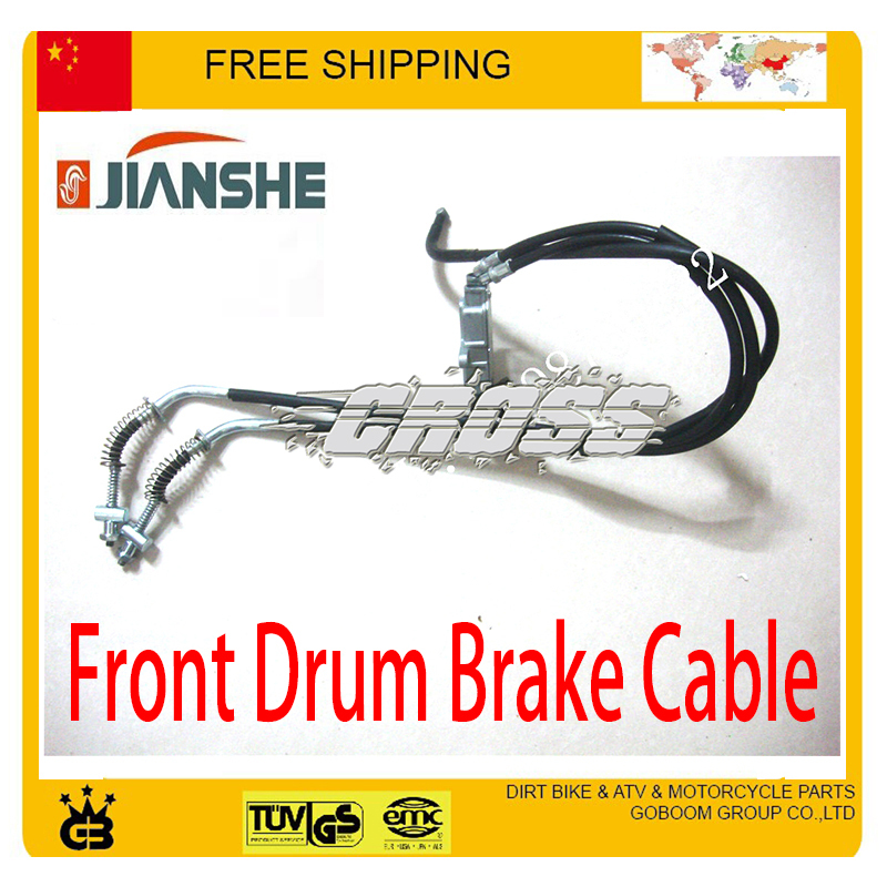 JIANSHE ATV ATV250 front drum brake cable quad accessories free shipping kemar люстра kemar kwinero krem 5хe14х60 вт стекло металл белый золото kxaz64r