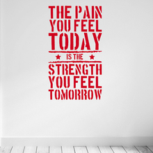 The Pain you Feel Today... Home Fitness Gym Wall Sticker , Strength Workout Vinyl Wall Art Mural Decals Room Decorations