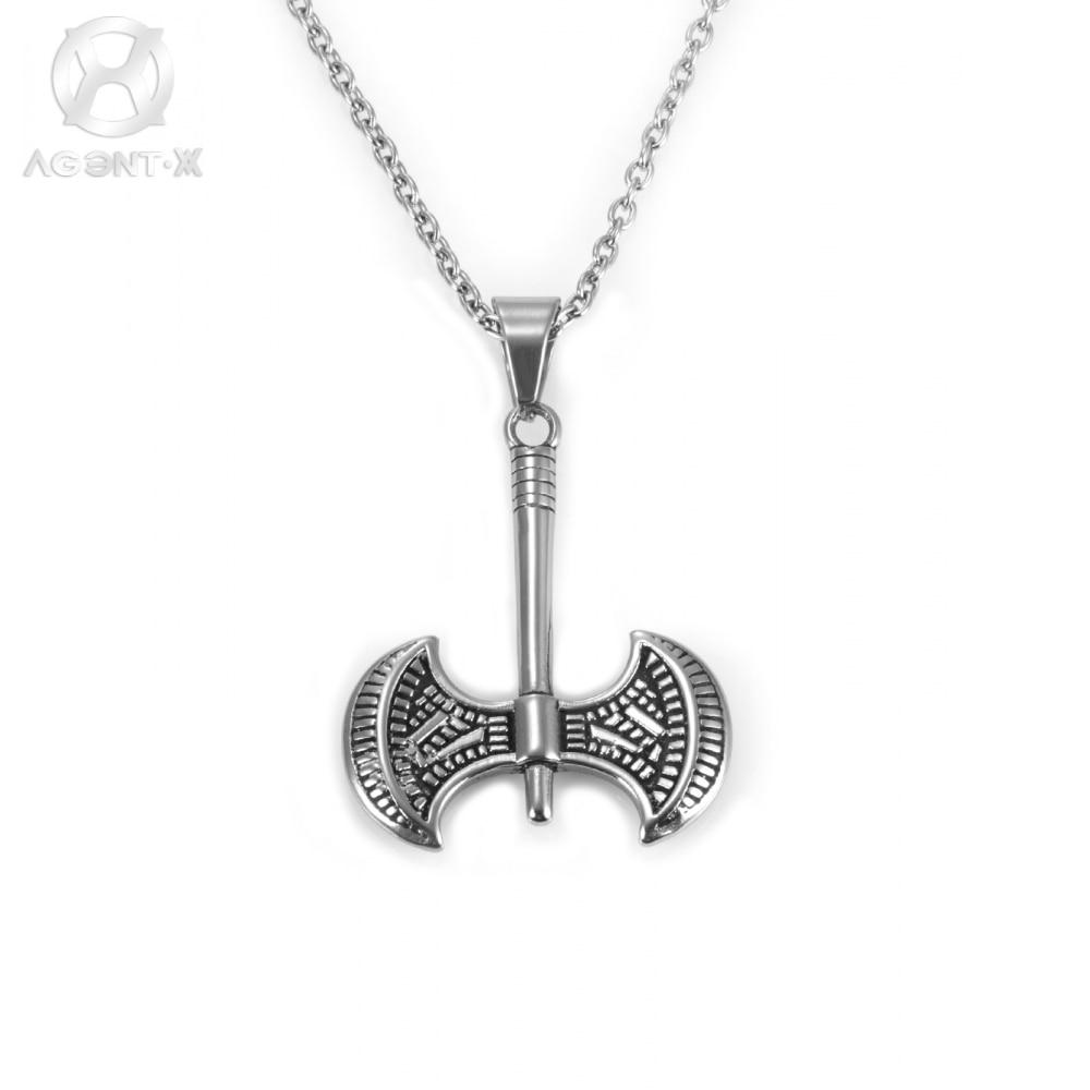 Aliexpress.com : Buy AgentX Punk Cool Double Axe Charm Pendant Men ...