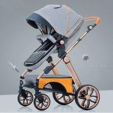 лучшая цена Multifunctional Adjustable Lightweight Luxury Baby Stroller Foldable Portable Stroller Hot Mom Pink Stroller Travel Pram