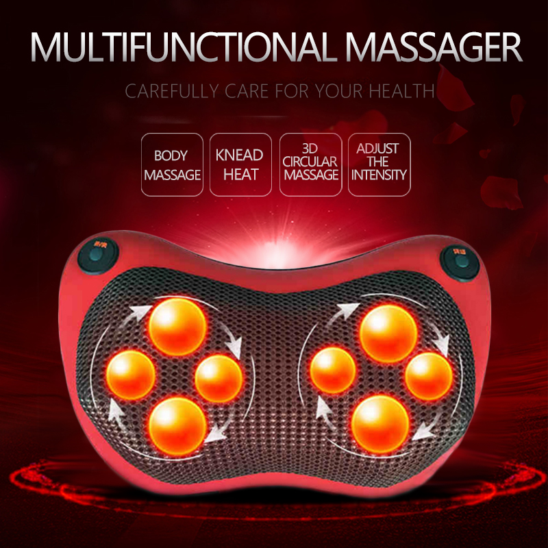 AngelRuila Neck Massager Car Home Cervical Shiatsu Massage Neck Back Waist Body Electric Multifunctional Massage Pillow Cushion angelruila neck massager car home cervical shiatsu massage neck back waist body electric multifunctional massage pillow cushion