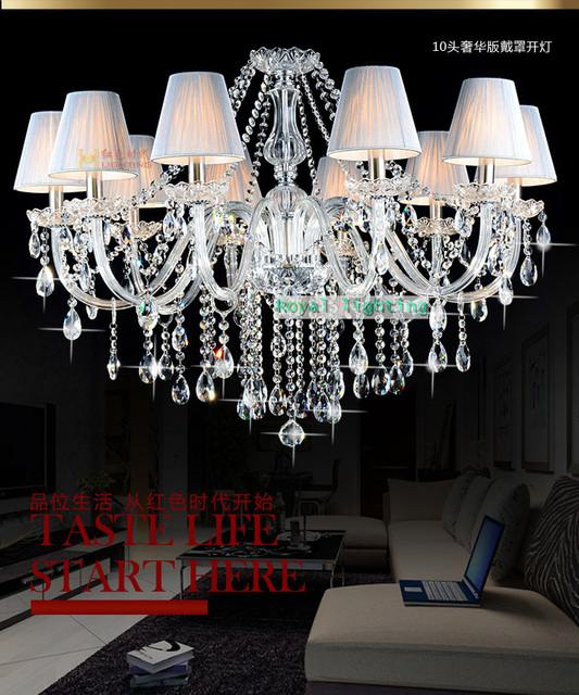 Kche 10 Stcke Led Kerze Kronleuchter Lampen Fr Esszimmer Transparent Kristallleuchterlampe Wohnzimmer Foyer Cafe Hngeleuchte