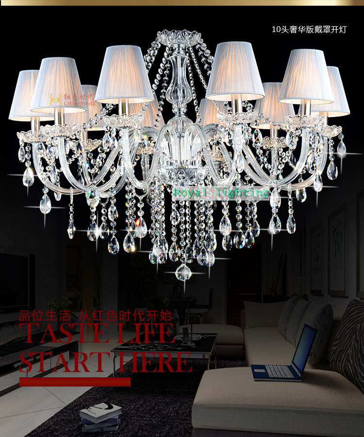 Kitchen 10 pcs led candle chandelier lamps for dining room - Inexpensive chandeliers for bedroom ...