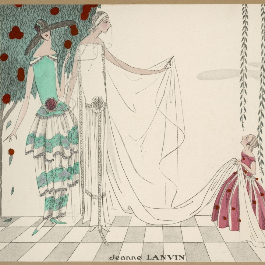 Bride In A Wedding <font><b>Dress</b></font> By Jeanne <font><b>Lanvin</b></font> Poster Print By Mary Evans Picture Library (36 X 24)