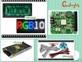 free shipping 18 pcs P10 outdoor Full Color Led Module (320*160mm)+RGB led controller+power supply