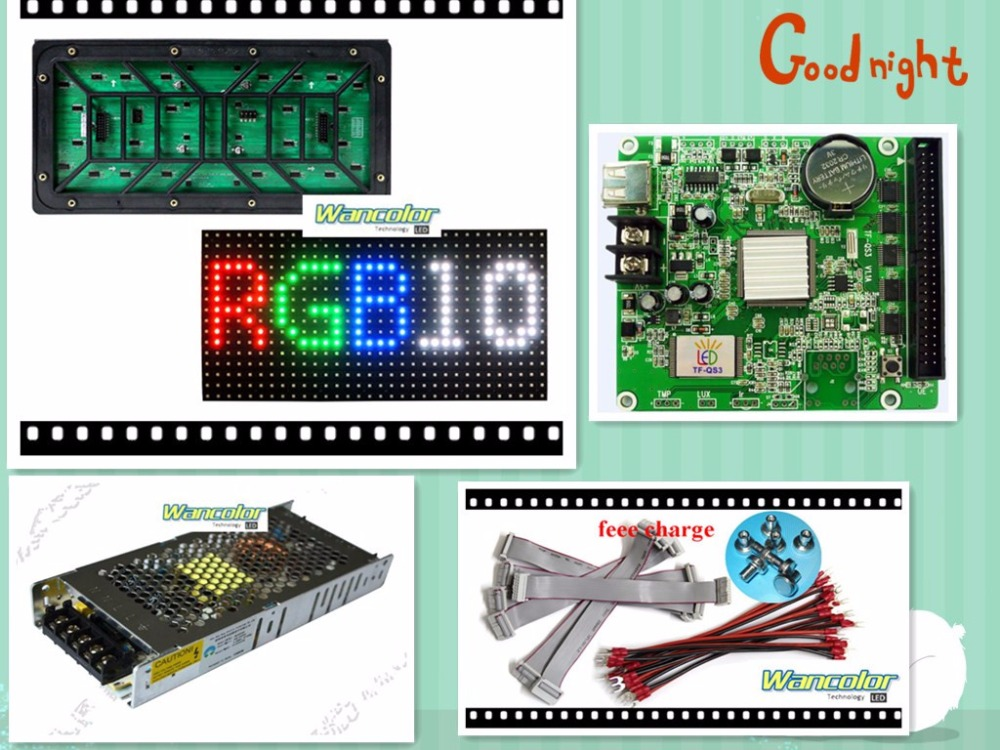 free shipping 20 pcs <font><b>P10</b></font> outdoor Full Color <font><b>Led</b></font> <font><b>Module</b></font> (320*160mm)+<font><b>RGB</b></font> <font><b>led</b></font> controller+power supply image