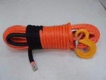 12mm * 30m 오렌지 교체 합성 로프, ATV 윈치 케이블, 합성 윈치 로프, 보트 윈치 로프