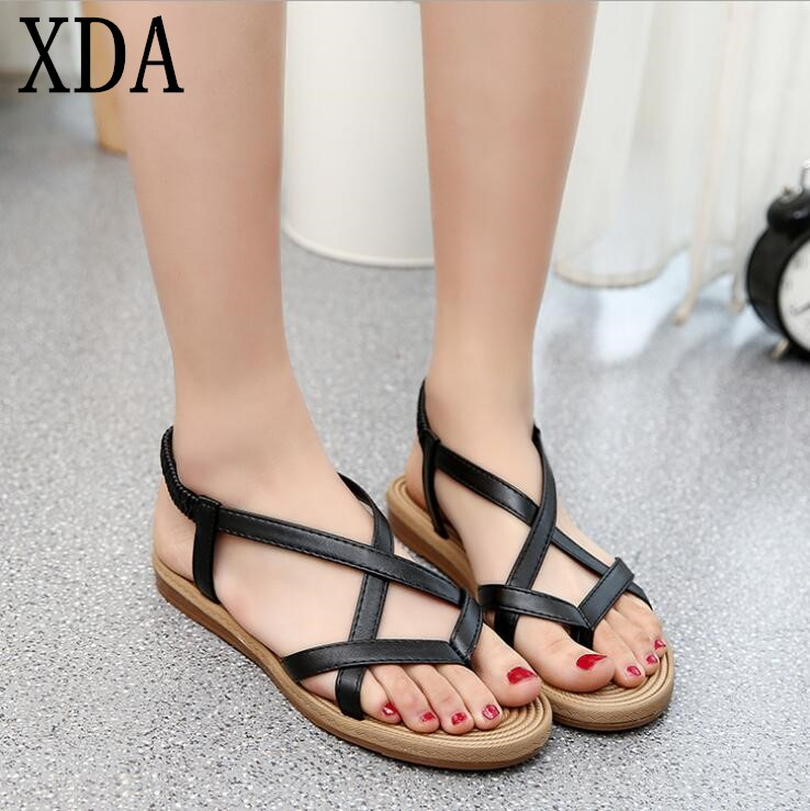 XDA 2018 new summer Sandals Women Flat Shoes Bandage Bohemia Leisure Lady Casual Sandals Peep-Toe Outdoor Fashion sandals F171 xda 2018 new summer sandals women flat shoes bandage bohemia leisure lady casual sandals peep toe outdoor fashion sandals f171