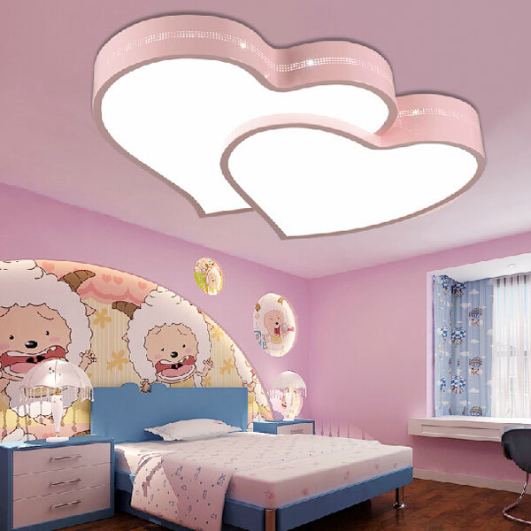 Child room led ceiling lamp girl boy bedroom led light modern simple ...