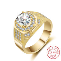 Simple Fashion Style Cushion Cut 2ct Cz Ring Original 925 Sterling Silver Rings High Quality Wedding
