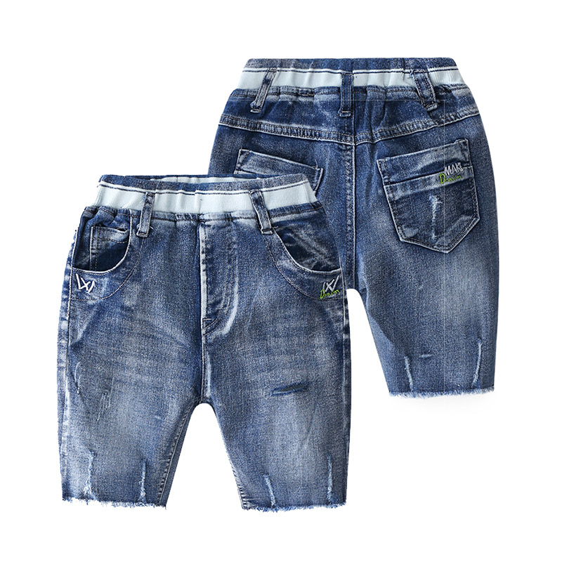 Mother & Kids Smart Half-length Trousers 2019 Summer Fashion 2 3-8 10 Years Toddler Sports Kids 5 Capris Baby Boy Calf-length Hole Denim Pants Jeans