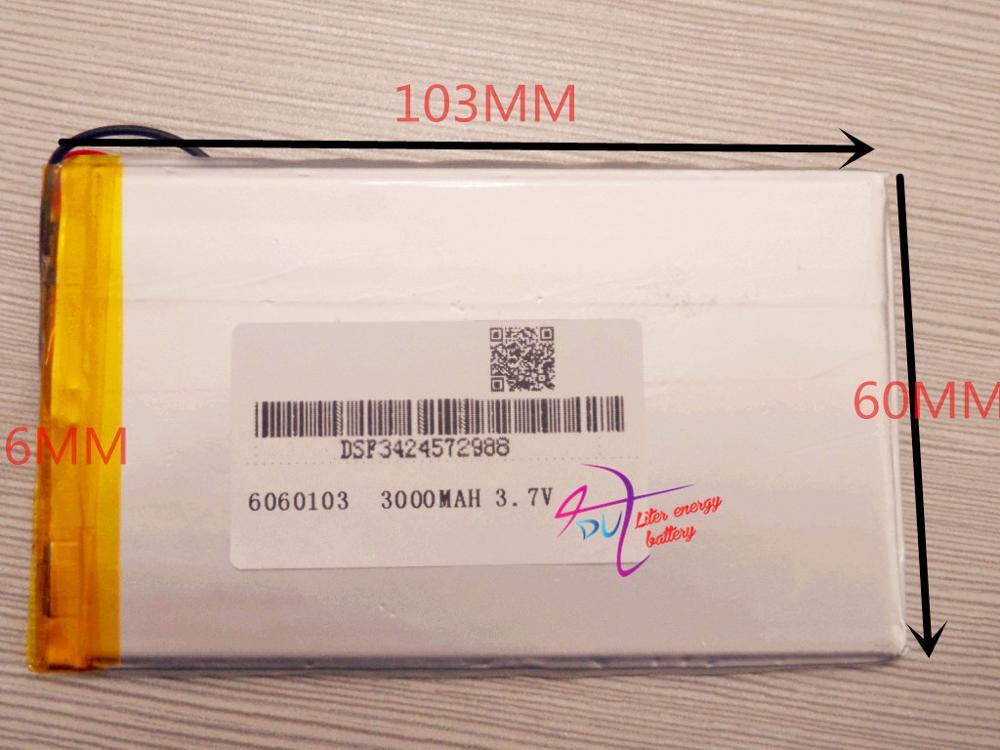 1 Pcs Tablet Batterie Größe 6060103 3,7 V 3000 Mah Tablet Batterie Mit Schutz Bord Für Tablet Pcs Pda