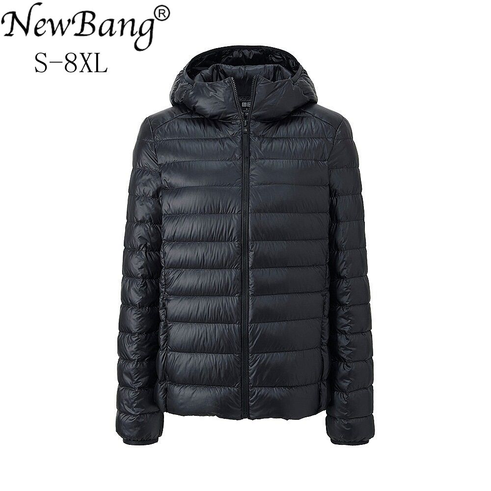 NewBang Brand 7XL 8XL Women's Down Coat Ultra Light Down Jacket Women Hooded Winter Windproof Feather Warm Coat Portable Parkas