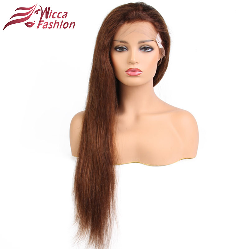 Blonde Wigs Straight Brazilian Remy Human Hair Blonde Full Lace Wig For Black White Women 130