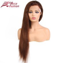 Blonde Wigs Straight Brazilian Remy Human Hair Blonde Full Lace Wig For Black White Women 130% Density Wigs Dream Beauty