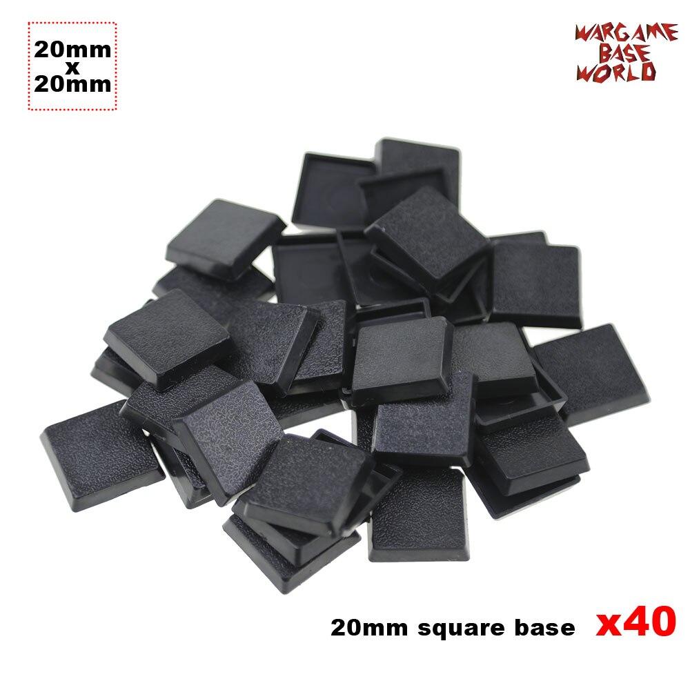 قواعد الألعاب المنمنمة 40 × 20 مم قواعد بلاستيكية مربعة للألعاب الحربية