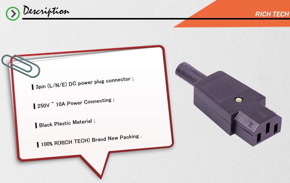 3 stücke 220 V DC/AC power jack terminal 3pin AC/DC plug power draht ...