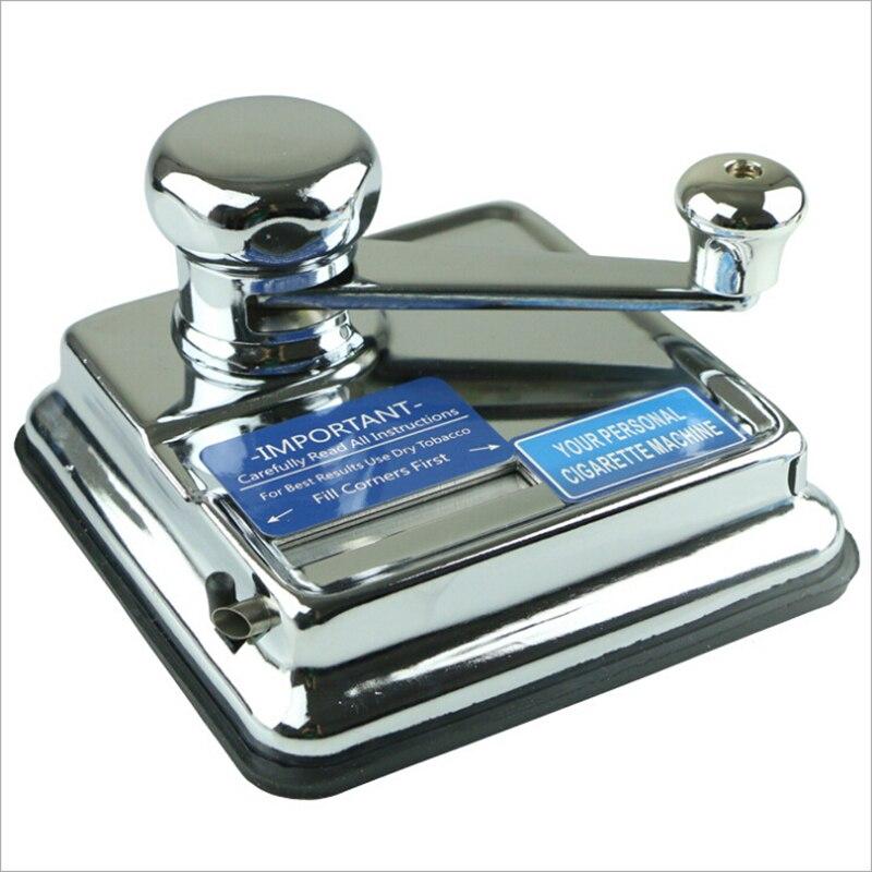 Poussoir Portable en métal boîtier manuel fumeur poussoir semi-automatique roulement Machine à cigarettes tabac fumer rouleau