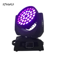 Hot selling LED 36x18W Zoom LED RGBWA+UV Moving Head Zoom Wash DJ Light Render 6 Color In Hall Stage Disco Bar Night Club