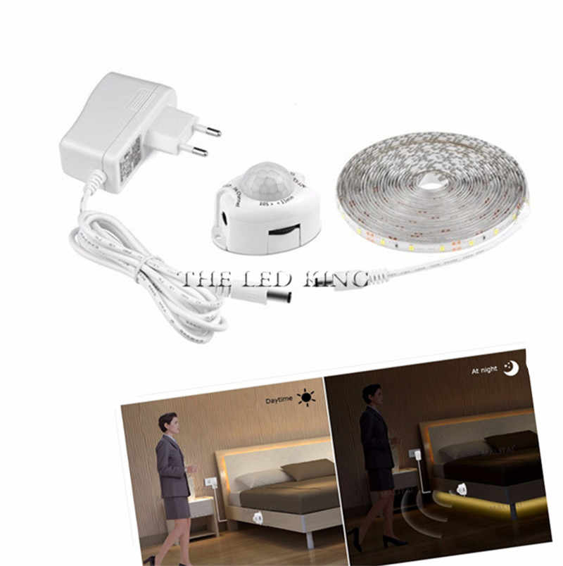 Draadloze DC12V Led Strip Motion Sensor Light Auto On/Off Flexibele Led Tape 1M 2M 3M 4M 5M10M SMD2835 Bed Licht Met Voeding